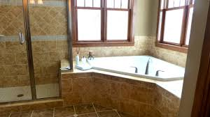 small 26 bathroom with corner bath on corner bath shower installed