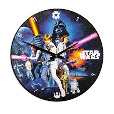 Wooden Wall Clock Star Wars Movie Wood Clock Cordless Wall Clocks Retroplanet Com