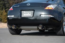 nissan 350z air intake hks stainless steel titanium cat back dual exhaust for 03 09