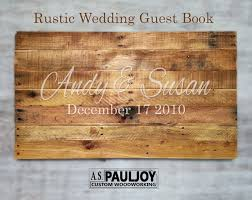 rustic wedding guest book unique country wedding personalized