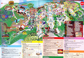 Six Flags New Jersery Six Flags Great Adventure 2015 Park Map