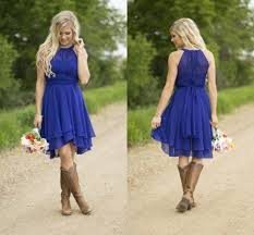 knee length evening dresses with cowboy boots evening
