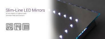 illuminated demister bathroom mirrors ultra slim led mirrors with sensors demisted pads illuminated