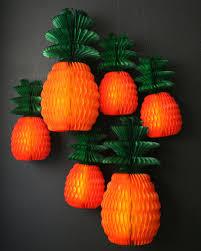 Paper Pineapple Decorations Sale Honeycomb Pineapple Festive Tissue Paper Decorations