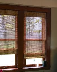 Blinds Wood Dark Wood Window Trim And Blinds