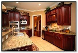 dark cherry cabinet kitchen designs design cabinets wall color