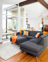 Best Peachy Orange  Coral Room Designs Images On - Orange living room design
