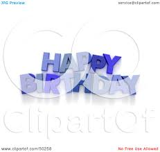3d clipart birthday pencil and in color 3d clipart birthday