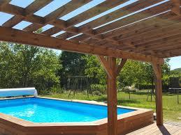piscine sur pilotis abri pergola chalet en bois vercors piscine vercors piscine