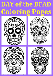 day of the dead coloring pages for kids great for 3d activities