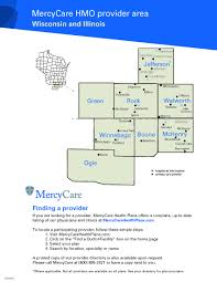 Lake Geneva Wisconsin Map by Service Area Map Mercycare