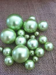 Moss Vase Filler Lime Mint Green Pearls For Floating Pearl Centerpieces Jumbo