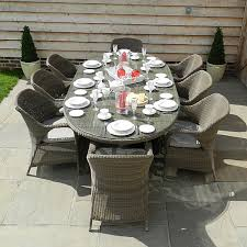 Garden Benches Bromsgrove 4 Seasons Outdoor Sussex 8 Seater Oval Set Weave Garden
