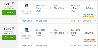 united airlines round trip from newark to las vegas starting 262