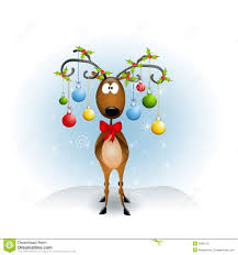 cartoon reindeer ornaments royalty free stock images image 5982519