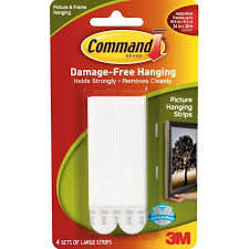 3m command damage free hanging large picture hanging strips 4