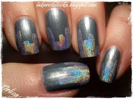 confessions of a polishaholic silver holo skyscrapers nail art