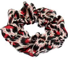 hair scrunchies satin cheetah animal print hair scrunchie