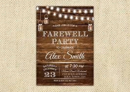 farewell party invitation farewell invite farewell party