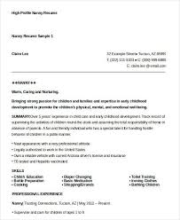 sample nanny resume unforgettable full time nanny resume examples
