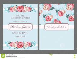 light blue wedding invitations vintage wedding invitation stock vector illustration of forgetmenot