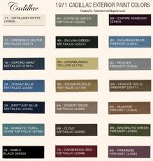1971 cadillac paint codes