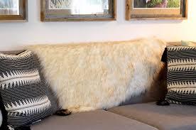 White Fur Rugs Ivory Beige White Faux Sheepskin Boho Fur Rug Chair Cover
