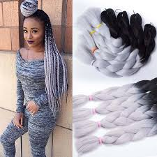 ombre senegalese twists braiding hair synthetic braiding hair senegalese braids black gray purple 24