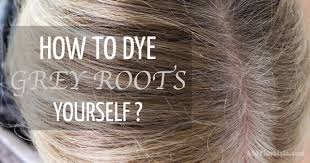 high lighted hair with gray roots how to color your hair yourself and cover those grey roots