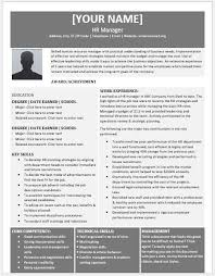 hr manager resume human resource manager resume contents layouts templates resume
