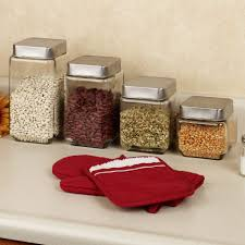 stainless kitchen canisters kitchen best glass kitchen canisters served in four options in
