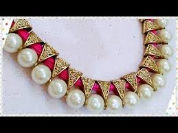 pearls necklace making images 7 how to make designer pearls necklace with earrings at home jpg