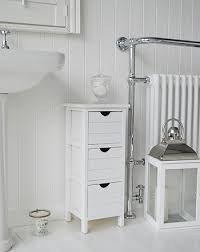 White Bathroom Storage Drawers Dorset Narrow White Free Standing Bathroom Storage Furniture 25cm