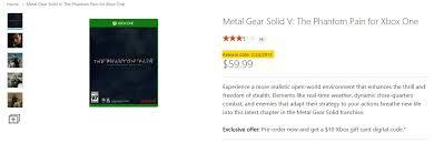 xbox digital gift card report metal gear solid v the phantom release date gamer