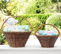 Easter Baskets Delivered Natural Sabrina Collapsible Handle Easter Basket Pottery Barn Kids