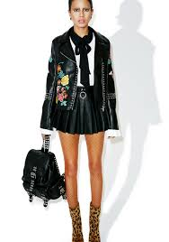 moto jacket glamorous halcyon embroidered moto jacket dolls kill