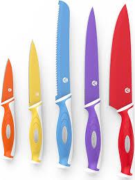 Great Kitchen Knives by Amazon Com Vremi 10 Piece Colorful Knife Set 5 Kitchen Knives