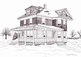 house drawings farm house drawings america