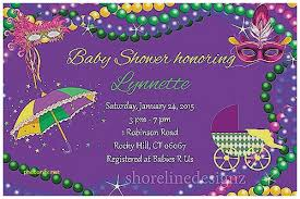mardi gras babies baby shower invitation mardi gras baby shower invitations