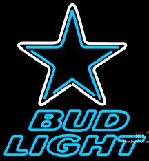 bud light neon light bud light neon dallas cowboys nfl neon sign neonsigns usa inc