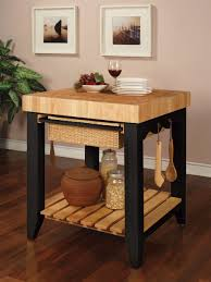 kitchen island with cutting board kitchen islands powell color story black butcher block kitchen