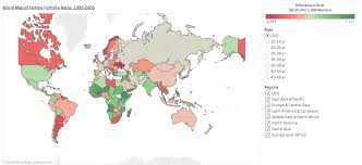 Choropleth Map Example Global Female Fertility Rates U2014 Research Pratt Si