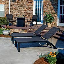 Woodard Belden Padded Sling Aluminum Outdoor Chaise Lounge Sets Outdoor Furniture Sets