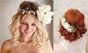 fleurs cheveux mariage coiffure de la couronne de coiffure mariage fleur à idée