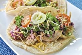let u0027s eat shredded chicken tacos with chipotle kale slaw