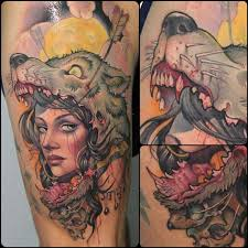 and wolf by victor chil tattoomagz