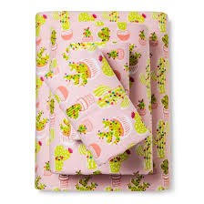 festive cactus flannel sheet set pillowfort target
