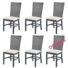 chaises grise lot de 6 chaises grises en fitrit noémie lot de 6 chaises grises