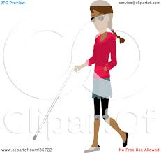 White Cane Blind Royalty Free Rf Clipart Illustration Of A Blind Hispanic Woman