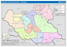 republic of south sudan counties as of 16 july 2012